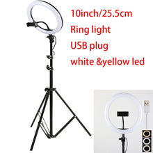 Load image into Gallery viewer, 10inch 25cm USB charge New Selfie Ring Light Flash