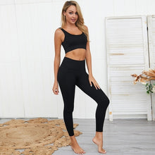 Load image into Gallery viewer, 2 Piece Cotton Spandex Yoga Set