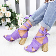 Load image into Gallery viewer, Women Pumps Ankle Cross Strap Sandals Shoes