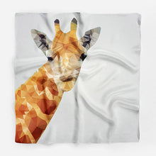 Load image into Gallery viewer, Giraffe Silk Scarf Bandana Scarf Silk Square Scarf
