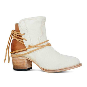 Fashion Autumn Women Boots Mid Heels Shoes