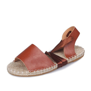 Women Ankle Cross Strap Flat Torridity