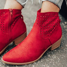Load image into Gallery viewer, OeakWomen Knitting Elastic Autumn Ankle Boots