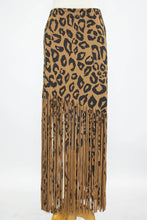 Load image into Gallery viewer, Bold Animal Print Skirt with Fringe