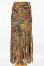 "Load image into Gallery viewer, ""Pow"" Comic Print Skirt with Fringe"