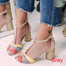 Load image into Gallery viewer, Coloured Round-heeled Sandals