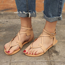 Load image into Gallery viewer, Women Flats Ankle Sandals 2018 Summer Round Toe