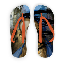 Load image into Gallery viewer, Blue Adult Flip Flops