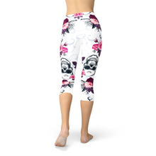 Load image into Gallery viewer, Day Of The Dead Capri Leggings