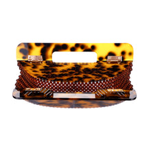 Load image into Gallery viewer, Cheetah Ark Bamboo Acrylic Clutch