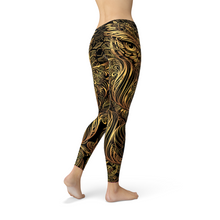 Load image into Gallery viewer, Golden Ornament Owl Leggings