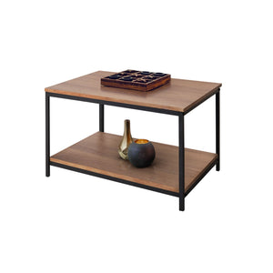 Zenvida Coffee Table for Living Room Rectangular Modern Wood Metal Cocktail Table