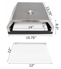 Load image into Gallery viewer, Zenvida Grill Top Pizza Oven with Stone for Gas or Charcoal Grill