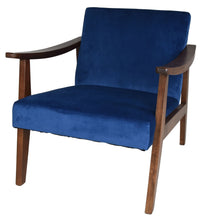 Load image into Gallery viewer, Zenvida Mid Century Modern Accent Armchair Solid Hardwood  Upholstered