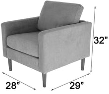 Load image into Gallery viewer, Zenvida Club Chair Modern Accent Arm Chair Upholstered Fabric Living Room Chair