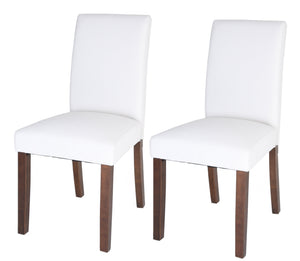 Zenvida Dining Chairs (Set of 2) Faux Leather Upholstered
