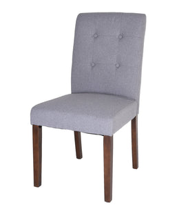 Zenvida Fabric Dining Chair Set of 2 Button Tufted