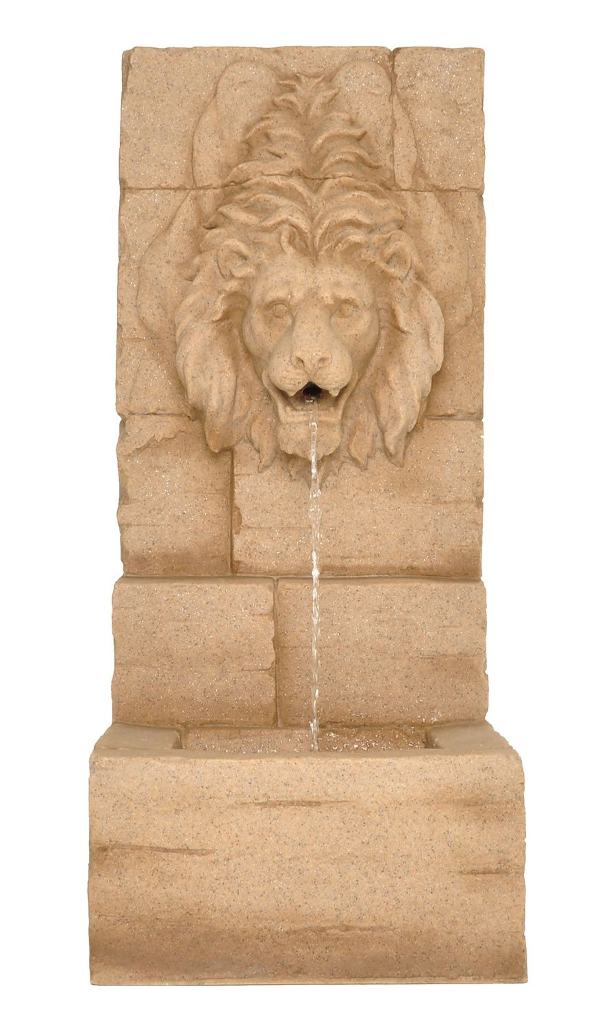 Zenvida Lion Head Waterfall Outdoor Garden Fountain 39