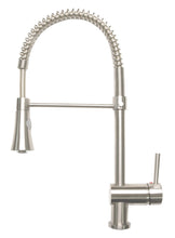 Load image into Gallery viewer, Zenvida Single Handle Pull Down Dual Function Sprayer Kitchen Faucet Brushed Nickel
