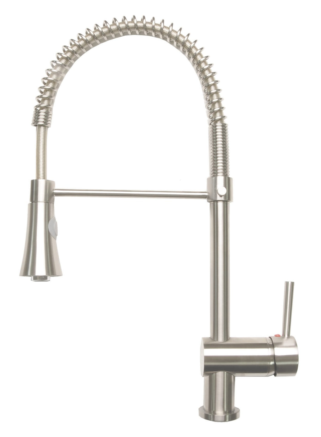 Zenvida Single Handle Pull Down Dual Function Sprayer Kitchen Faucet Brushed Nickel