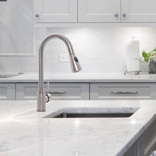 Load image into Gallery viewer, Zenvida Modern Single Handle High Arc Pull Down Lead Free Kitchen Faucet