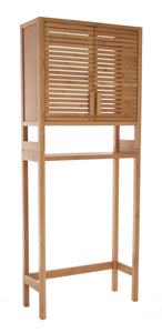 Zenvida Over Toilet Storage Cabinet Bathroom Organizer Natural Bamboo
