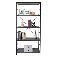 Load image into Gallery viewer, Zenvida 5 Tier Book Case Tall Etagere Open Book Shelves