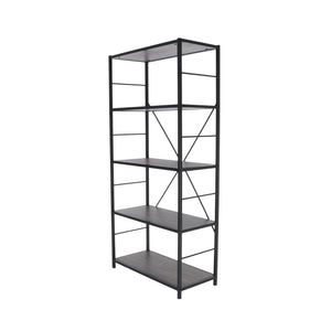 Zenvida 5 Tier Book Case Tall Etagere Open Book Shelves