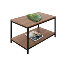 Load image into Gallery viewer, Zenvida Coffee Table for Living Room Rectangular Modern Wood Metal Cocktail Table