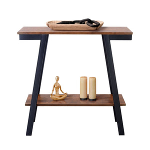 Zenvida Console Table, Narrow Sofa Table With Storage for Living Room, Entryway Modern Industrial Accent Table