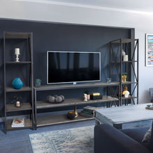 "Load image into Gallery viewer, Zenvida 3 Piece Entertainment Center for TV's up to 65"" Storage Shelves"