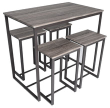 Load image into Gallery viewer, Zenvida 5 Piece Bistro / Pub Table Set With 4 Stools