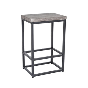 "Zenvida 24"" Counter Height Bar Stools Set of 2 Backless Industrial Modern Kitchen Island Chairs"