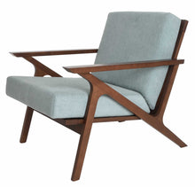 Load image into Gallery viewer, Mid Century Modern Armchair Solid Hardwood Upholstered Accent Chair