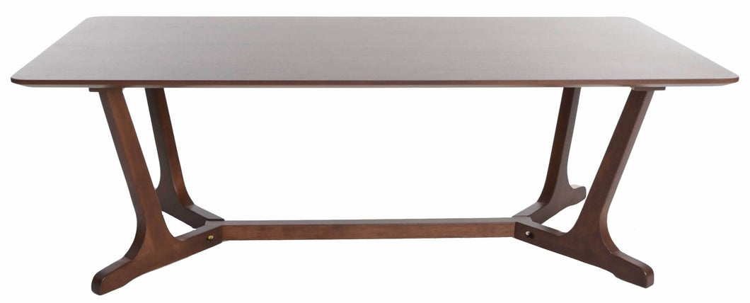 Zenvida Mid Century Modern Coffee Table for Living Room Rectangular Cocktail Table Wood