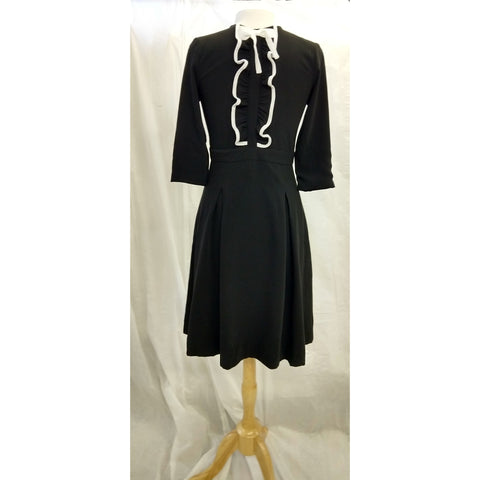 FRONT RUFFLE COLLAR DRESS