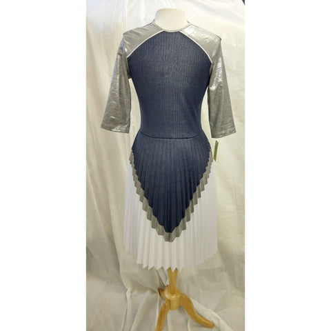 3 Tone Accordion Pleat Dress