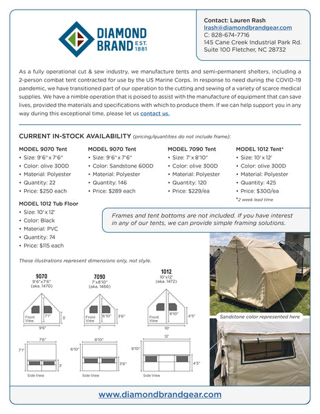 Shelter Tent or Mobile Care Unit