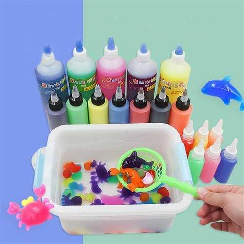 ECAI 10PCS 60ML DIY Magice Water Elf Animals Toy Water Absorption Swell Toy Slime Clay With Mould Box Packing - NorCal Cyber Sales
