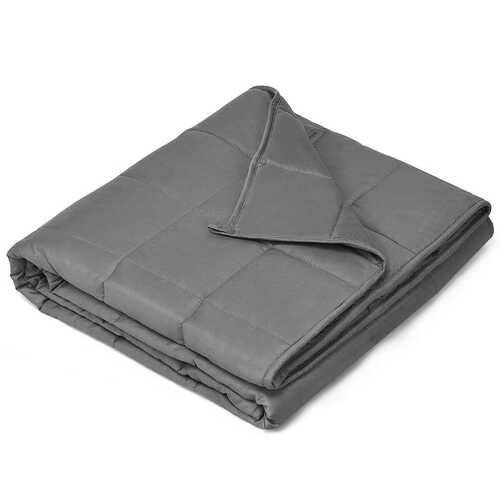 15 lbs Weighted Blankets with Glass Beads Light-Dark Gray - Color: Dark Gray