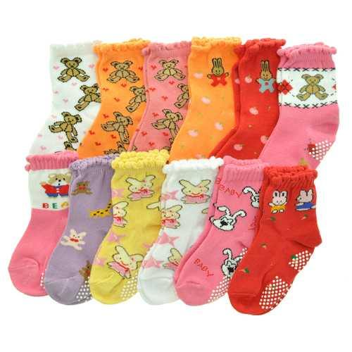 Case of [120] Angelina Baby Girl's Cotton Blend Socks - Size 12-24M - NorCal Cyber Sales