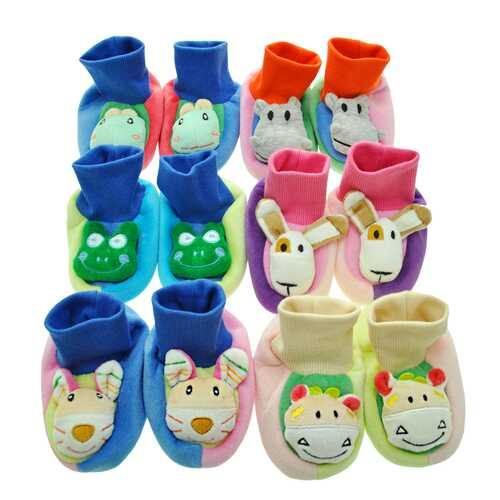 Case of [36] Baby Non Skid Slipper Socks with 3D Applique - 0-12 Months - NorCal Cyber Sales