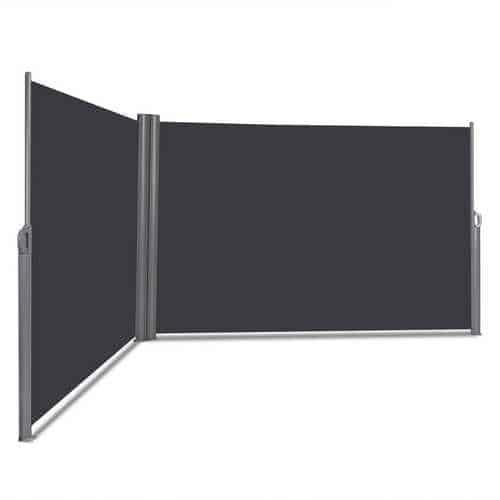 "237"" x 63"" Patio Retractable Double Folding Side Awning Screen Divider"