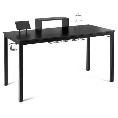 "55"" Ergonomic Gaming Desk w/ Monitor Shelf"