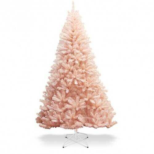 6' / 7' Artificial Christmas Tree Hinged Full Fir Tree-6' - Color: Pink - Size: 6'