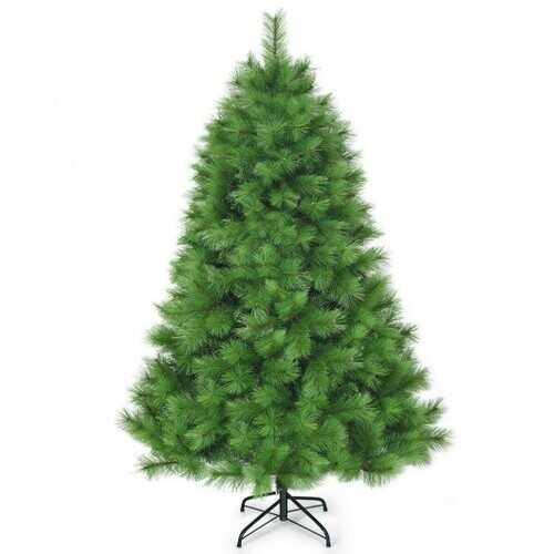 6 ft Hinged Artificial Christmas Tree Holiday Decoration with Stand