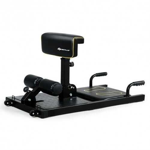 8-in-1 Home Gym Multifunction Squat Fitness Machine - Color: Black