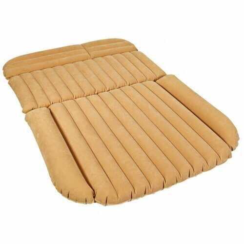 Inflatable SUV Air Backseat Mattress Travel Pad with Pump Camping - Color: Camel - NorCal Cyber Sales
