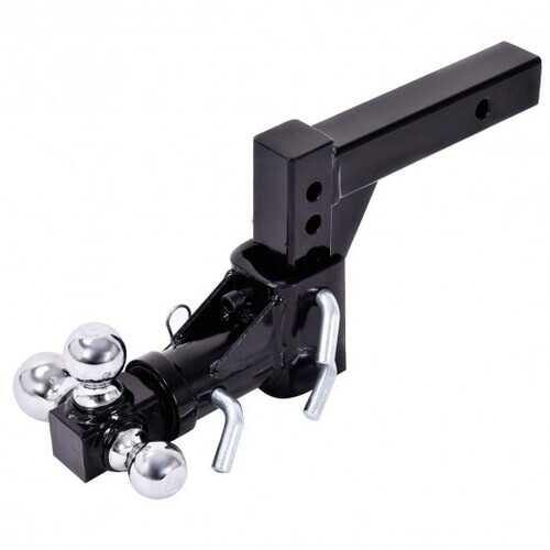 Triple Ball Swivel Adjustable Drop Turn Trailer Tow Hitch Mount - NorCal Cyber Sales