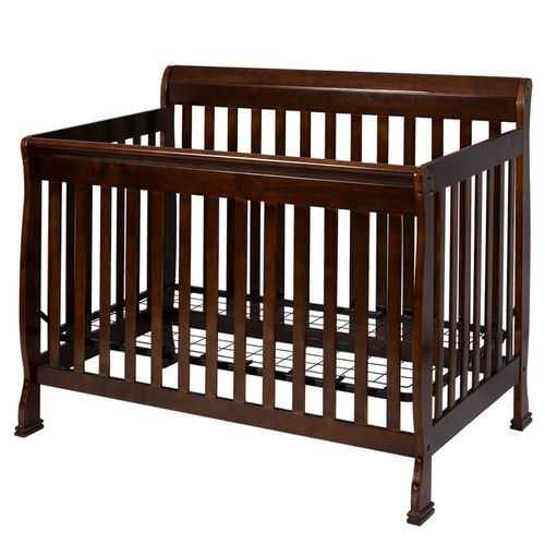 Coffee Pine Wood Baby Toddler Bed Convertible Crib - Color: Coffee - NorCal Cyber Sales